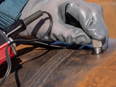 Ultrasonic Welding Testing Inspection of High Big Steel Flagpole